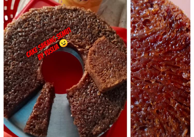 Resep: Cake Sarang Semut (kue sarang semut / karamel)