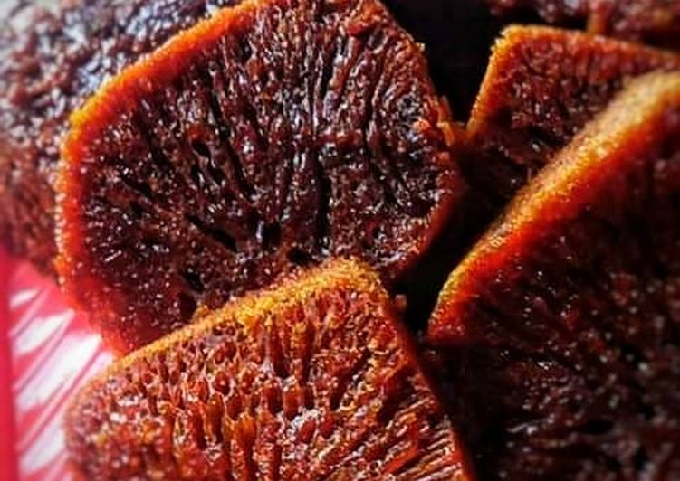 Cara Mudah memasak Bolu Caramel (Cake Sarang semut)