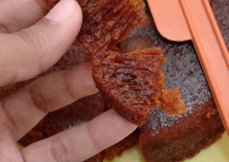 Resep: Bolu sarang semut no oven no mixer (resep copas dari YouTube) lezat