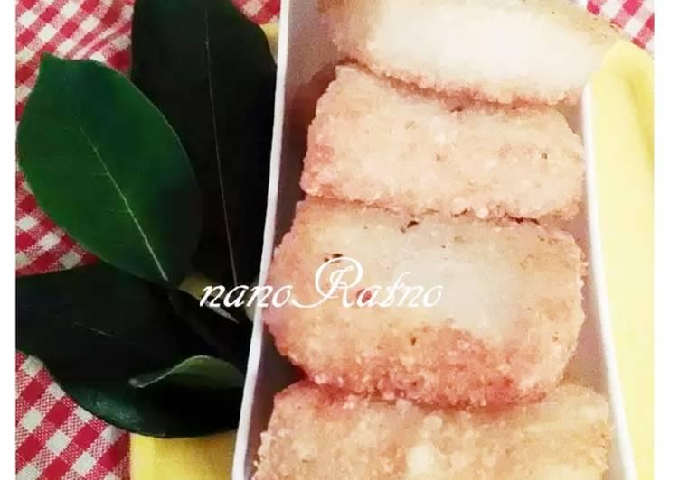 Cara Mudah memasak Jadah/tetel goreng lezat