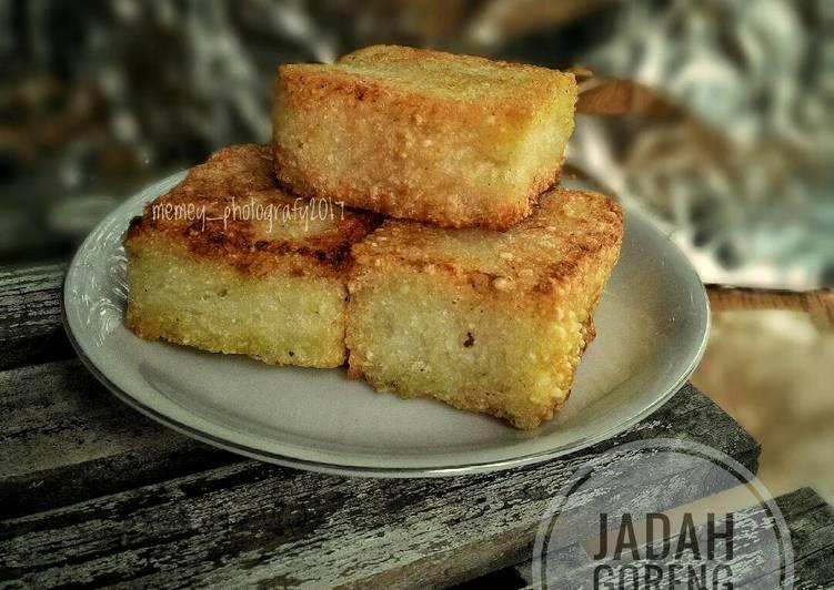 Cara Mudah mengolah Jadah tetel goreng