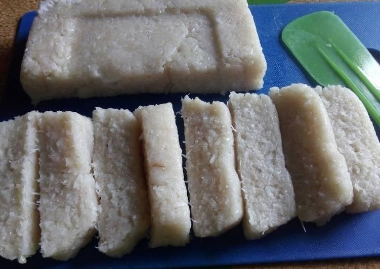 Cara memasak Tetel / jadah / uli