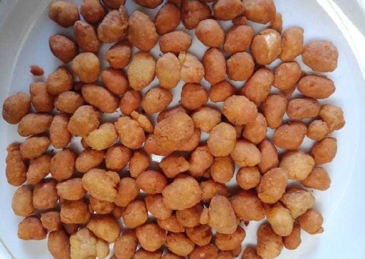 Cara Mudah mengolah Kacang atom gurih manis