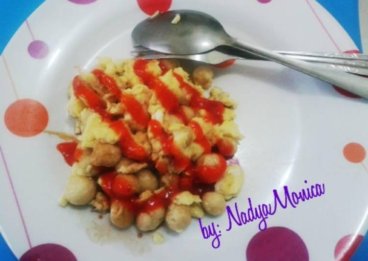 Cara Mudah memasak Telor Kacang Orak-Arik ala anak kost istimewa