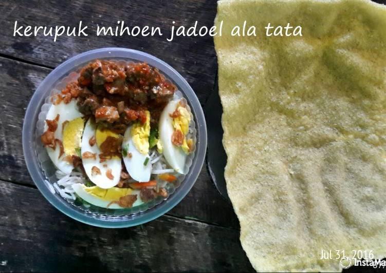 Resep memasak Kerupuk mihun jadoel+sambal hati