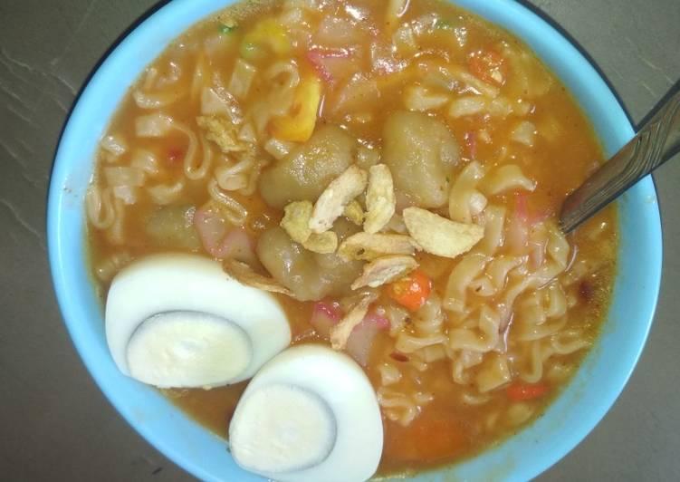 Resep membuat Seblak mie bakso aci lezat
