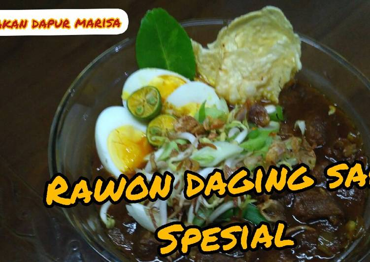 Resep: Resep Rawon Daging Sapi special enak