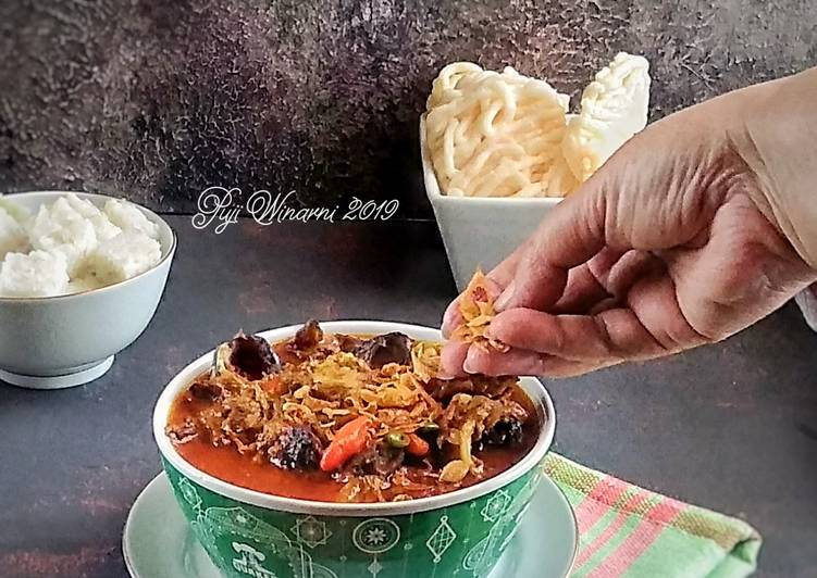 Cara memasak Gulai kepala kambing bumbu bagar
