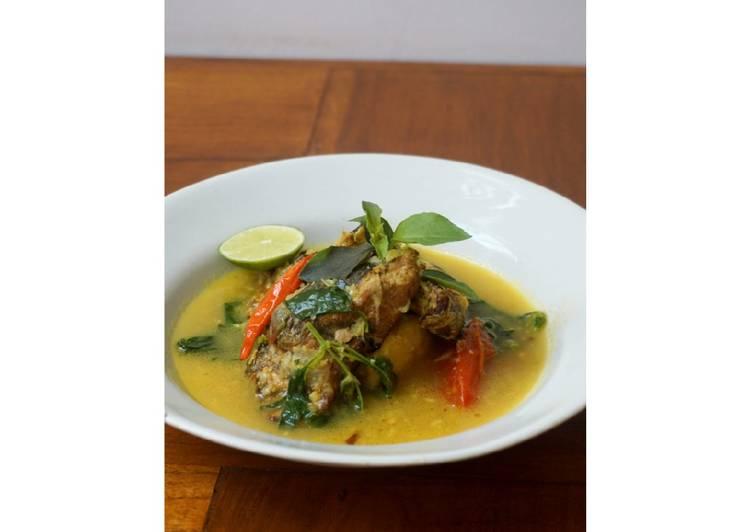 Resep: Ikan asap bumbu mangut dgn kemangi lezat