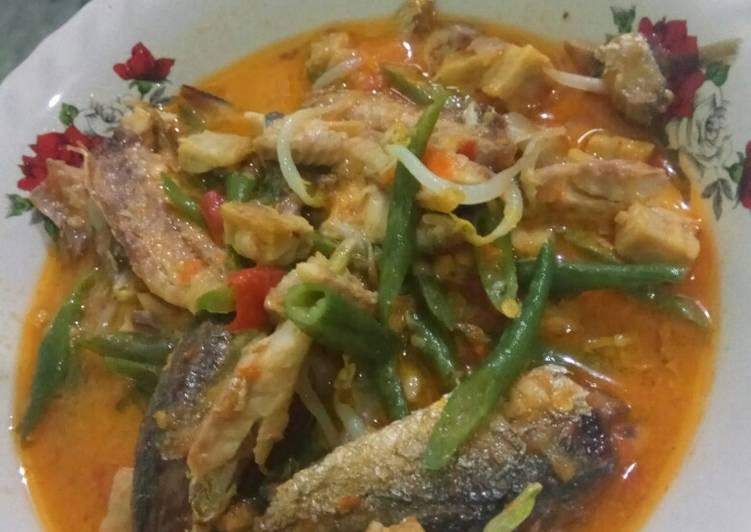 Resep: Ikan pindang tempe kacang panjang masak santan
