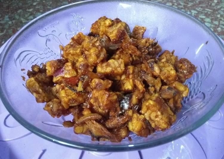 Resep memasak Sambal goreng tempe pindang suwir