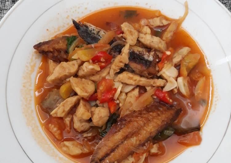 Cara Mudah mengolah Sarden ikan pindang tempe pedas adam manis enak
