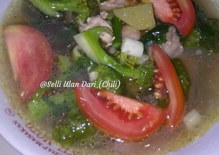 Resep: Sayur soup lada hitam