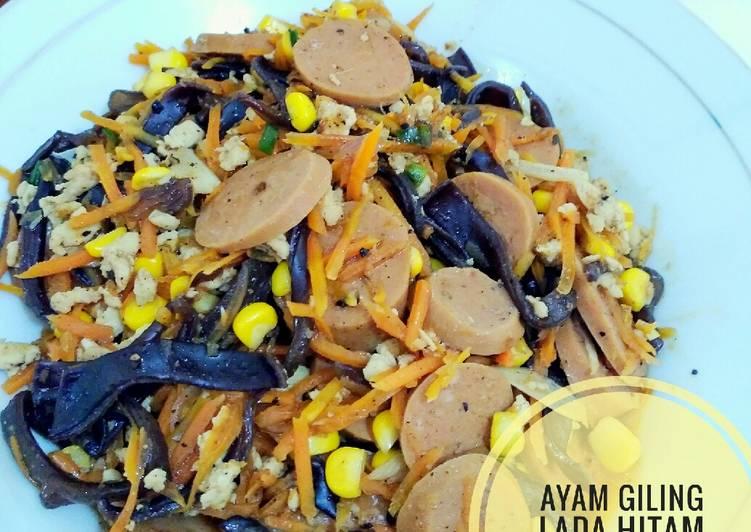 Resep: Ayam giling lada hitam mix vegetable istimewa