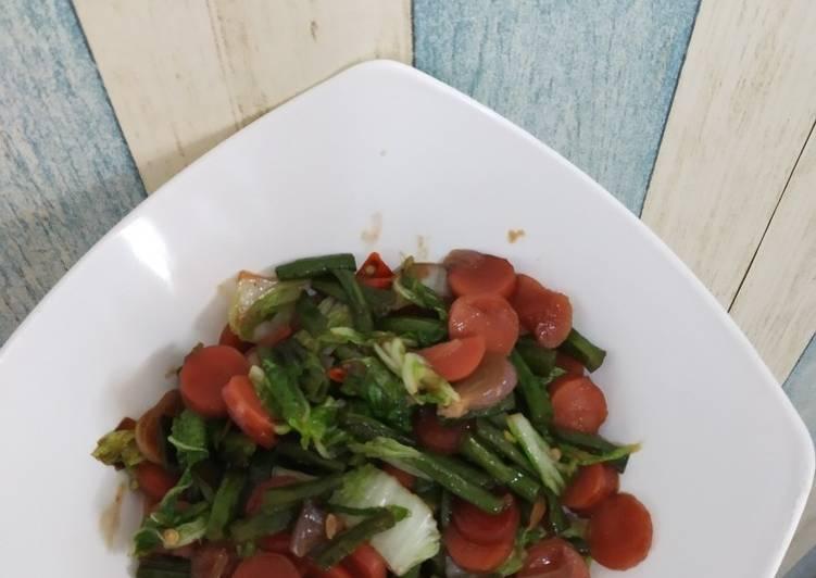Cara Mudah mengolah Oseng sayur sosis lada hitam