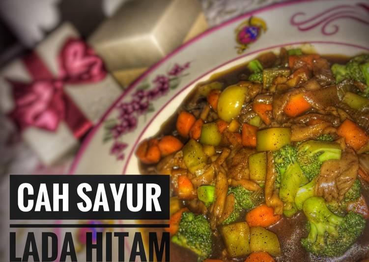 Resep mengolah Cah sayur (brokoli, wortel, jamur) Lada Hitam lezat