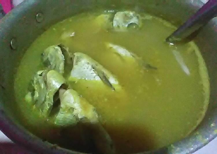 Cara memasak Sayur ikan kuah kuning merica lezat