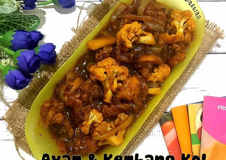 Resep memasak Ayam & Kembang Kol Saus Lada Hitam