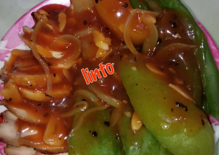 Resep: Rebus buncis labu kentang saus lada hitam enak