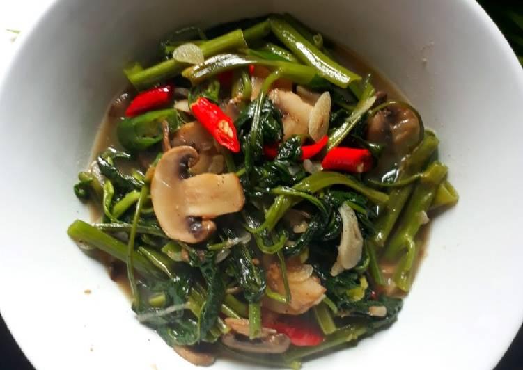 Resep memasak Kangkung lada hitam enak