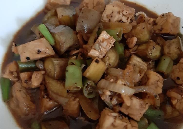 Resep memasak Terong buncis lada hitam lezat