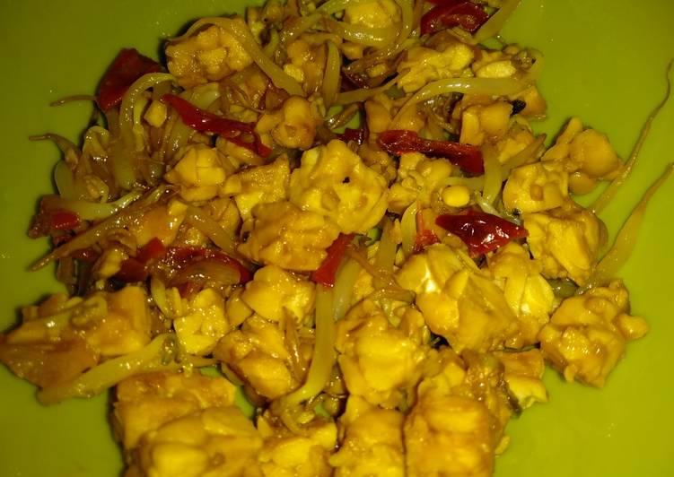 Resep memasak Tumis tempe tauge saus tiram lada hitam simple #5ResepTerbaruku