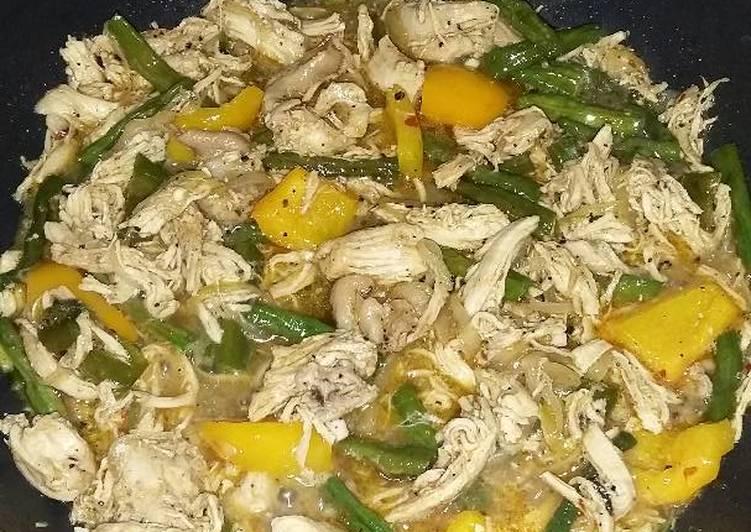 Resep: Kacang Panjang Ayam lada hitam