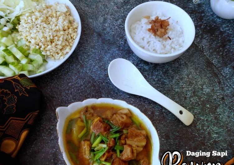Resep mengolah Rawon daging Sapi enak
