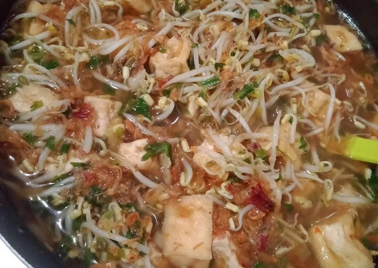 Resep memasak Tahu Balap (karena gak pakai lontong)