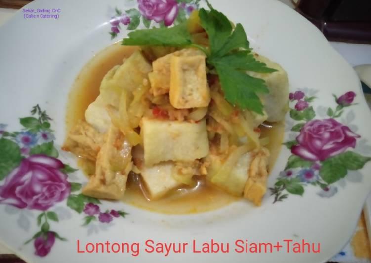 Cara Mudah mengolah Lontong Sayur labu Siam+tahu
