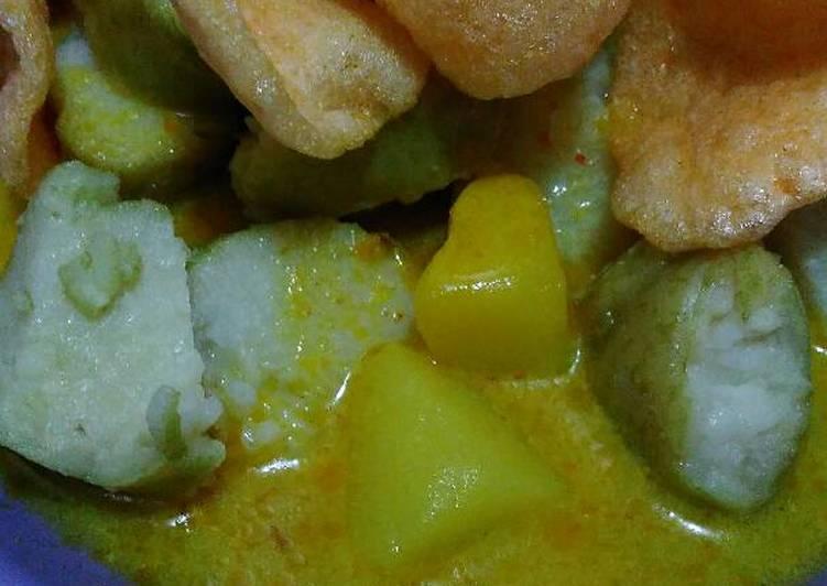 Resep: Sayur tahu+kentang (lontong sayur)