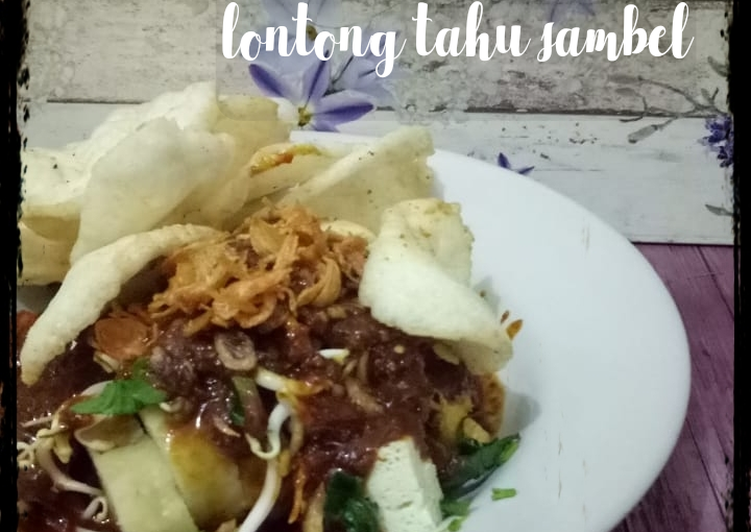 Cara memasak Lontong tahu sambel