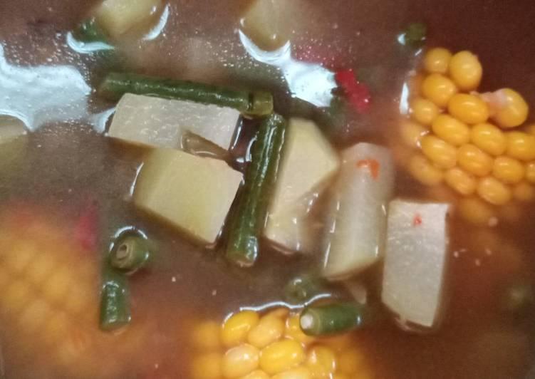 Cara membuat Sayur asem betawi ala banyuwangi