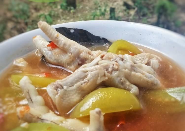 Resep mengolah Ceker ayam kesrut banyuwangi enak