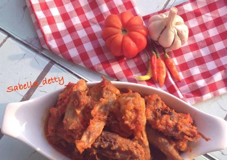 Cara mengolah Ayam bumbu merah khas banyuwangi istimewa