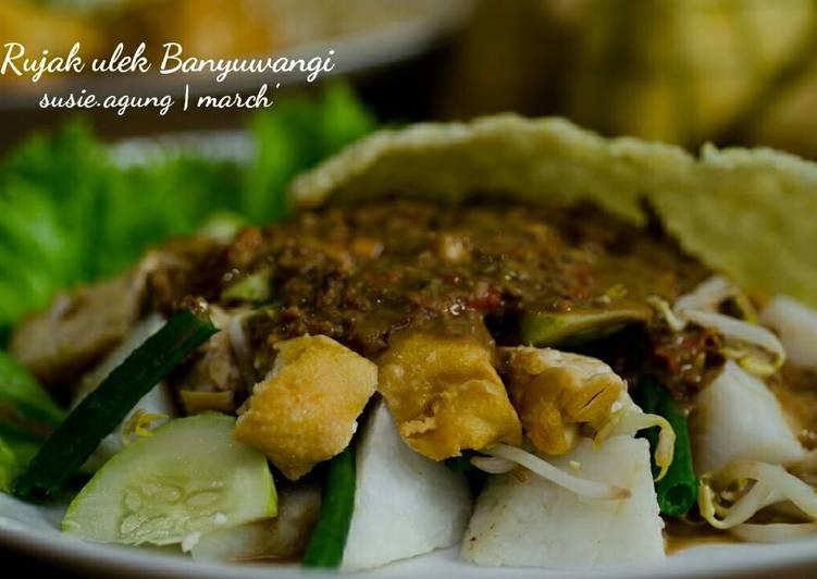 Cara mengolah Rujak ulek khas Banyuwangi lezat