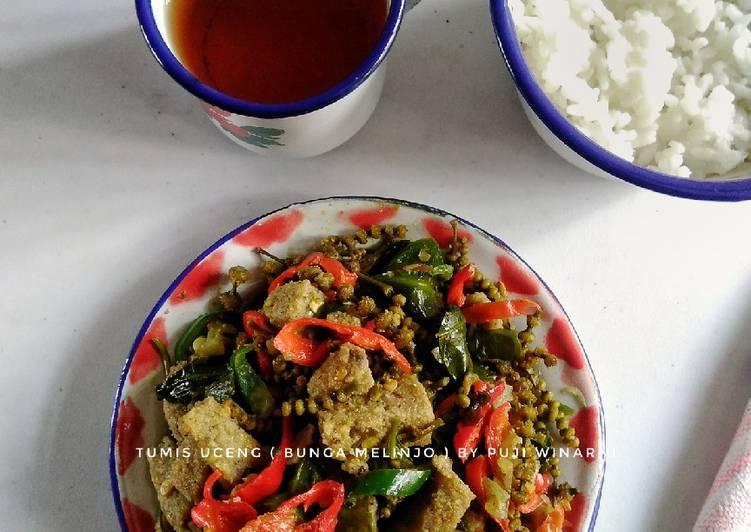 Cara memasak Tumis uceng (bunga melinjo) istimewa