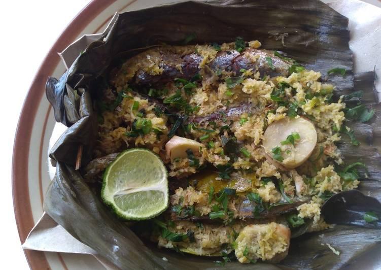Resep mengolah Bothok ikan asin seledri yummy enak
