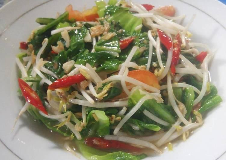 Resep membuat Oseng sawi hijau pahit taoge#bantumantenbaru lezat