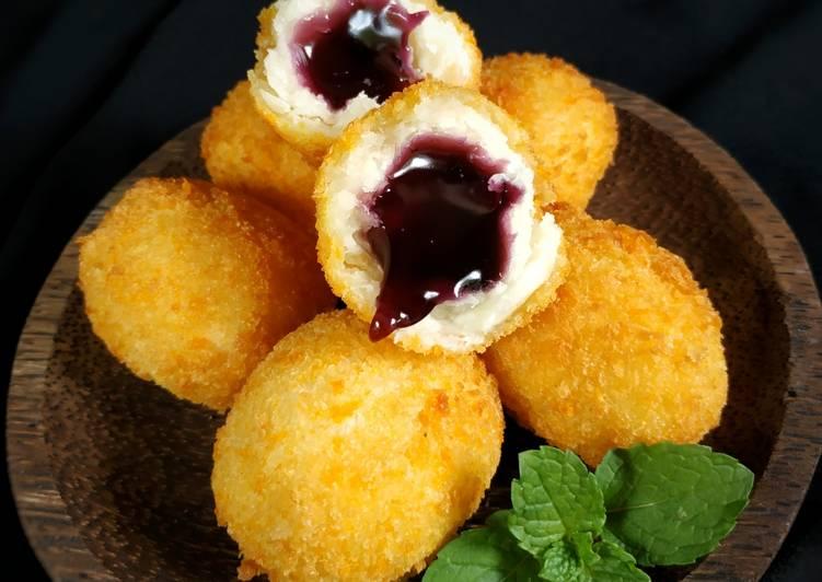 Resep: Jemblem Krispy lava blueberry
