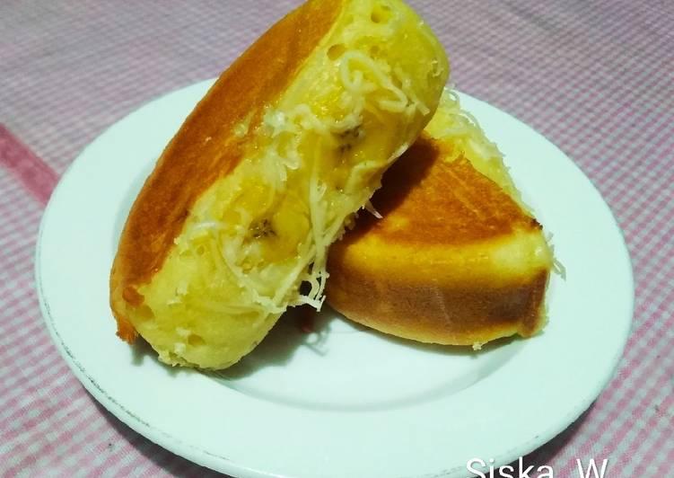 Resep membuat Pukis Isi Pisang Keju (new recipe) |anti kempes & anti lemes 😁 lezat