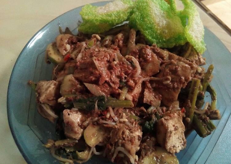Cara memasak Rujak sayur rumahan
