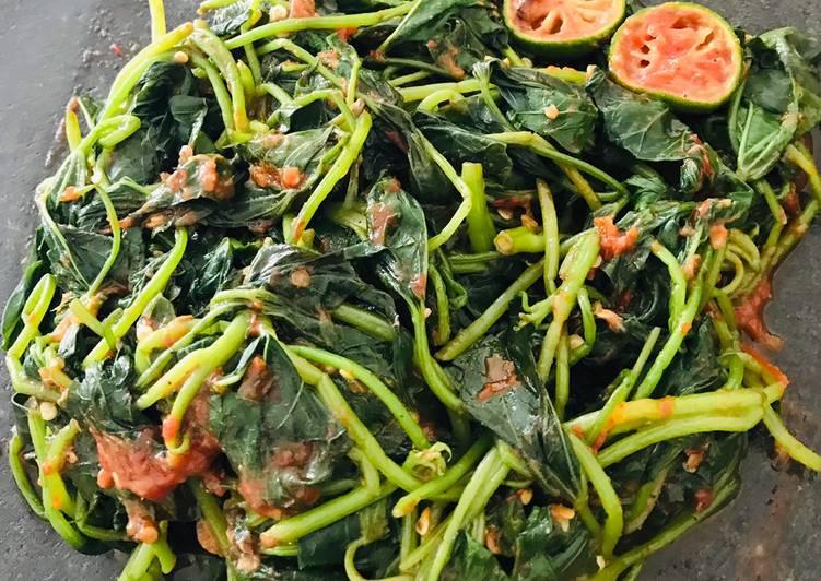 Resep memasak Rujak daun ubi enak
