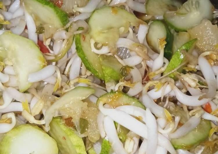Cara memasak Rujak cuka toge & timun lezat