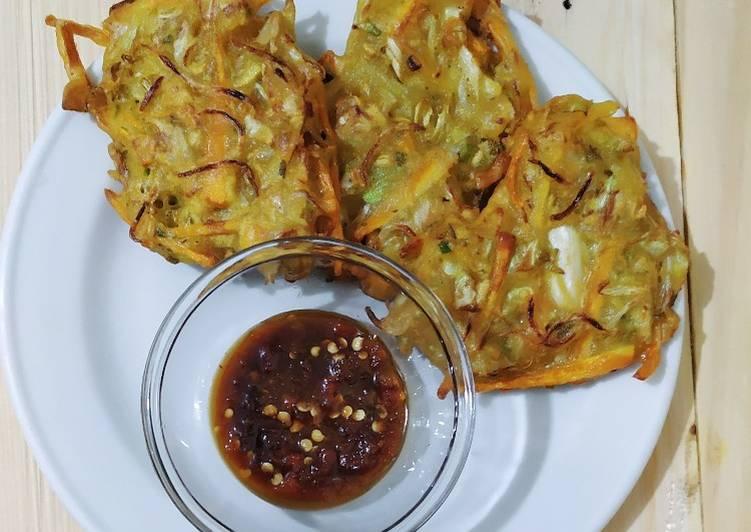 Resep: Bakwan sayur sambel rujak