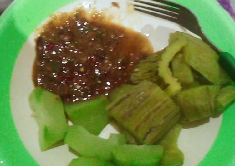 Resep membuat Rujak sayur
