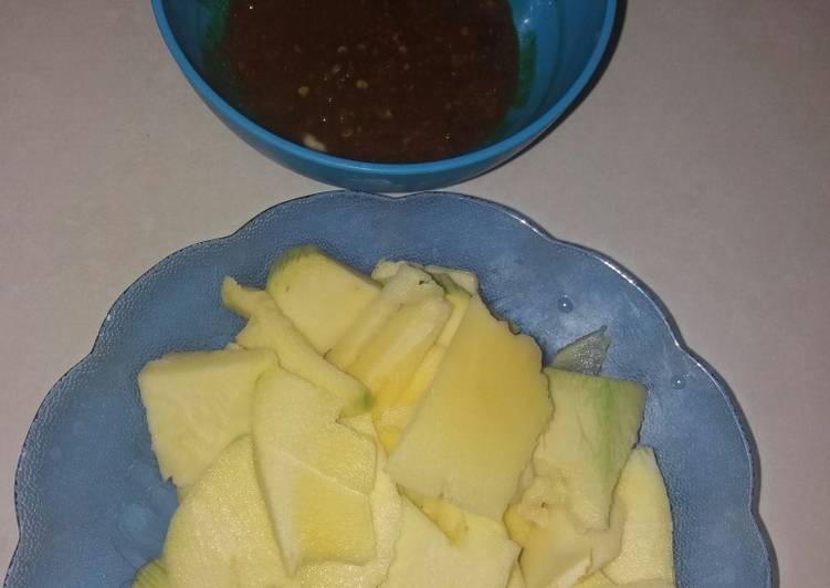 Cara Mudah membuat Rujak pencit cocol petis madura enak