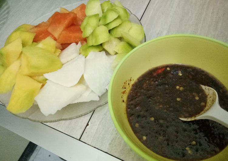 Cara Mudah memasak Bumbu rujak manis lezat