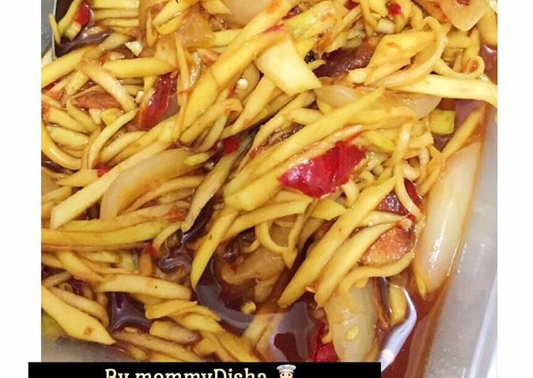 Cara Mudah membuat Rujak manis mangga +rambutan (pedas manis) /manisan mangga istimewa