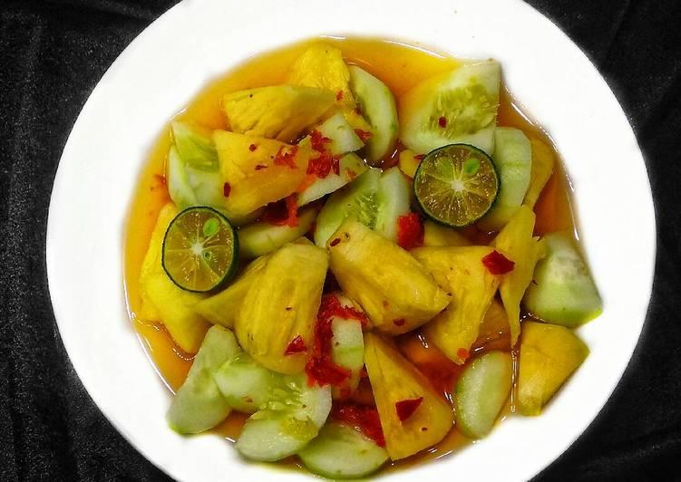 Resep membuat Rujak buah pedas manis asam enak